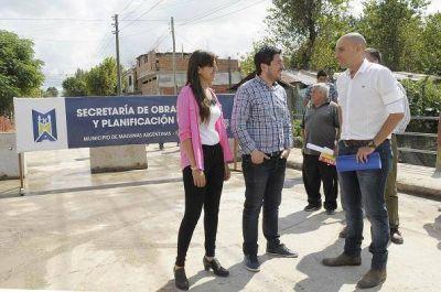 Pavimentación y obra hidráulica para la calle Herrera en Sourdeaux