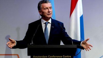 Mauricio Macri,en Holanda: