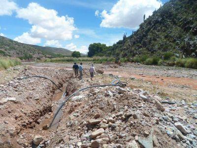 Agua Potable replantea obra en Los Morados