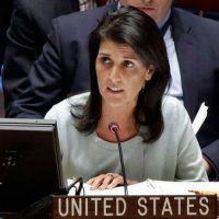 La embajadora de Estados Unidos ante la ONU aseguró que