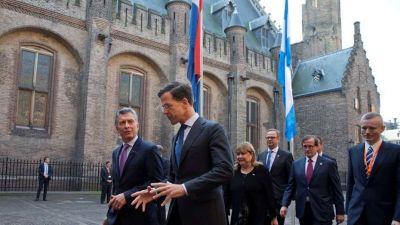 Mauricio Macri en Holanda: declaraciones sobre Malvinas y almuerzo con el primer ministro y los reyes