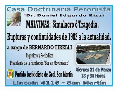 Casa Doctrinaria Peronista organiza charla sobre Malvinas