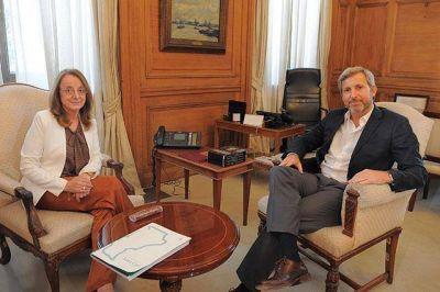 Kirchner se reunió con Frigerio por la situación de Santa Cruz