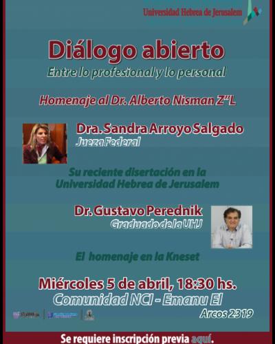 La UHJ hará un homenaje al fiscal Alberto Nisman (Z´L) con Perednik y Arroyo Salgado