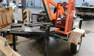 El municipio adquirió una máquina para reducir el volumen de caucho desechado