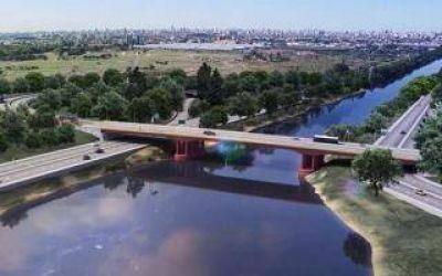 Comenzó la construcción de un nuevo puente Lacarra sobre el Riachuelo que une Soldati y Lanús