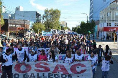 Se concretó en Río Gallegos una nueva marcha provincial