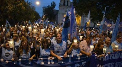 En la protesta de CTA, la UEPC advirtió de que seguirá el reclamo