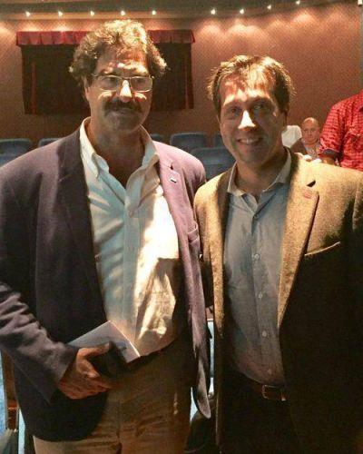 Arturo Rojas junto al Ministro de Agroindustria Leonardo Sarquis