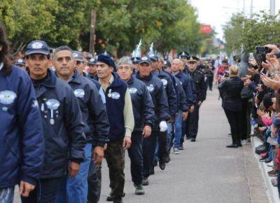 Bajo un cielo nublado, San Luis recordó a los veteranos de Malvinas