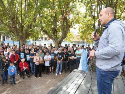 Martiniano Molina rindió homenaje a los excombatientes