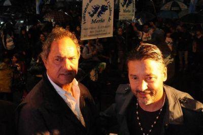 Scioli junto al intendente de Merlo homenajeó a ex combatientes de Malvinas