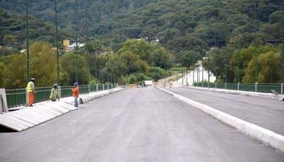 A buen ritmo avanza el puente La Viña - Azopardo