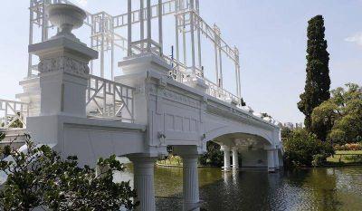 El Rosedal con su puente renovado