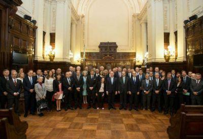 El presidente de la Corte recibió a las principales autoridades de la justicia federal y nacional