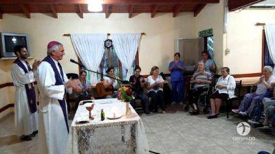 Mons. Uriona visitó Alejo Ledesma y Benjamín Gould