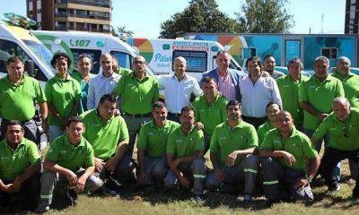 Nicolás Ducoté presentó las ambulancias del SAME en Pilar