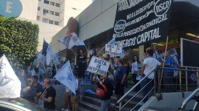 La Juventud Sindical protestó contra los despidos en Disco