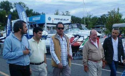 Scioli visitó el 21º Salón Náutico en San Fernando