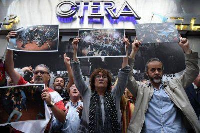 Los docentes paran mañana en todo el país en repudio a la represión