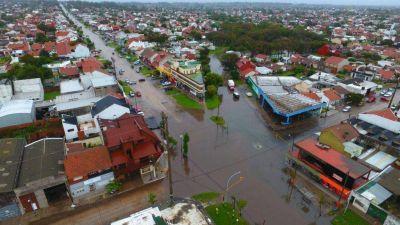 Hay 180 personas evacuados en General Pueyrredón luego de los 200 mm de agua caída