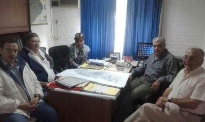 Romero viajó a Las Flores para pedir la intervención de Hidráulica en Ibarra y Urdampilleta