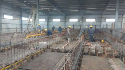 Avanzan en la infraestructura para la potabilización de agua en la nueva planta