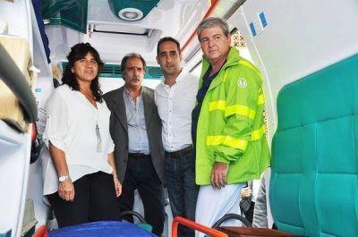 Tagliaferro y Ortíz recorrieron obras en el Hospital Güemes