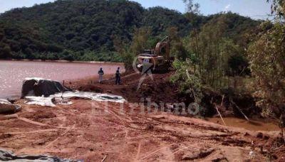 El temporal dejó en evidencia la falta de obras en el dique Itiyuro