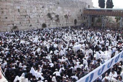 Pésaj: Más de 80.000 personas participaron en la Bendición de los Sacerdotes que se realiza en el Kotel, Muro de los Lamentos