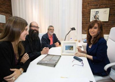 Raverta acompañó a científicos en un encuentro con la ex Presidenta
