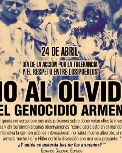 Recuerdan el 102 aniversario del genocidio armenio