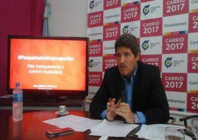 """Castello: """"Cambiemos con más leyes anticorrupción"""""""
