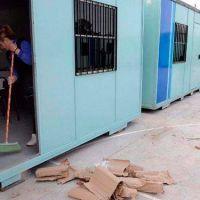"""Califican de """"indignante container"""" al aula que presentó la municipalidad"""