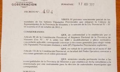 Legislativas2017: el gobernador convocó a elecciones para la misma fecha que Nación