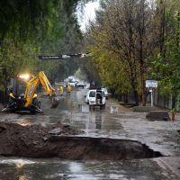 Las lluvias revelaron fallas en muchas calles