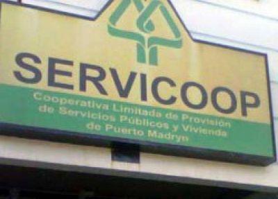Servicoop cobrará el 50% en items