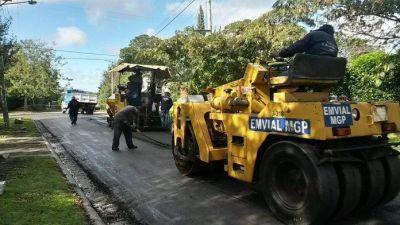 El Municipio pavimentará 1700 metros de calle en Sierra de los Padres