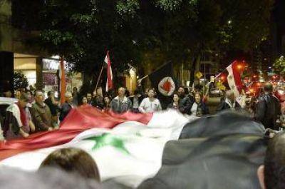 Se realizó un abrazo a la Embajada de Siria en Buenos Aires