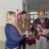 Salomón entregó 35.000 pesos a la Escuela Secundaria N° 6