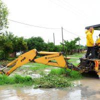 Intensas tareas municipales ante anegamientos por las fuertes precipitaciones