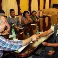 Passalacqua recibió a comunidad mbyá en el marco de la semana de los pueblos indígenas