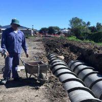 Avanzan los trabajos de desagües pluviales y la construcción de la estación de bombeo en Villa Alcira