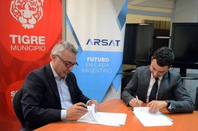 Tigre y ARSAT impulsan la instalación de empresas tecnológicas en el distrito