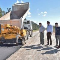 Pavimentación de Dr. Muñiz en Pueblo Nuevo