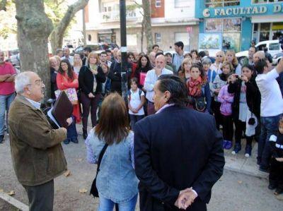 El Socialismo se mostró a pleno en la inauguración del monumento al Dr. Alfredo Palacios