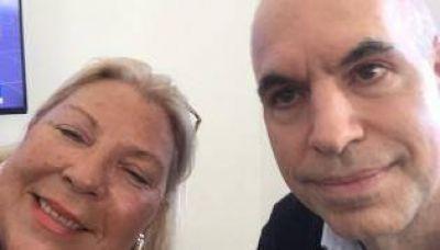 La foto de Horacio y Lilita: juntos para enfrentar a Lousteau