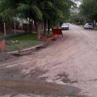 Continúa la obra de desagües pluviales en Sierra de la Ventana