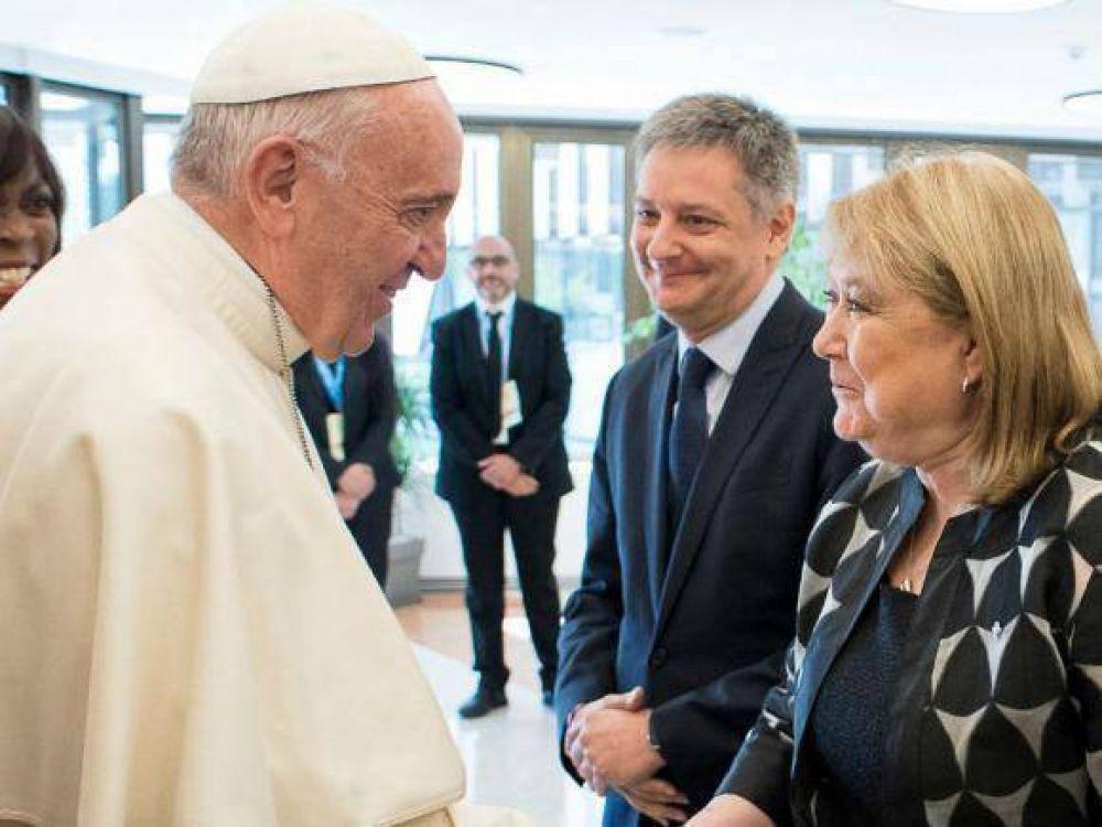 El Papa recibió a la canciller argentina Susana Malcorra