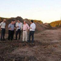 Pacífico recorrió obras de cloacas, cordón cuneta y asfalto en Ramallo